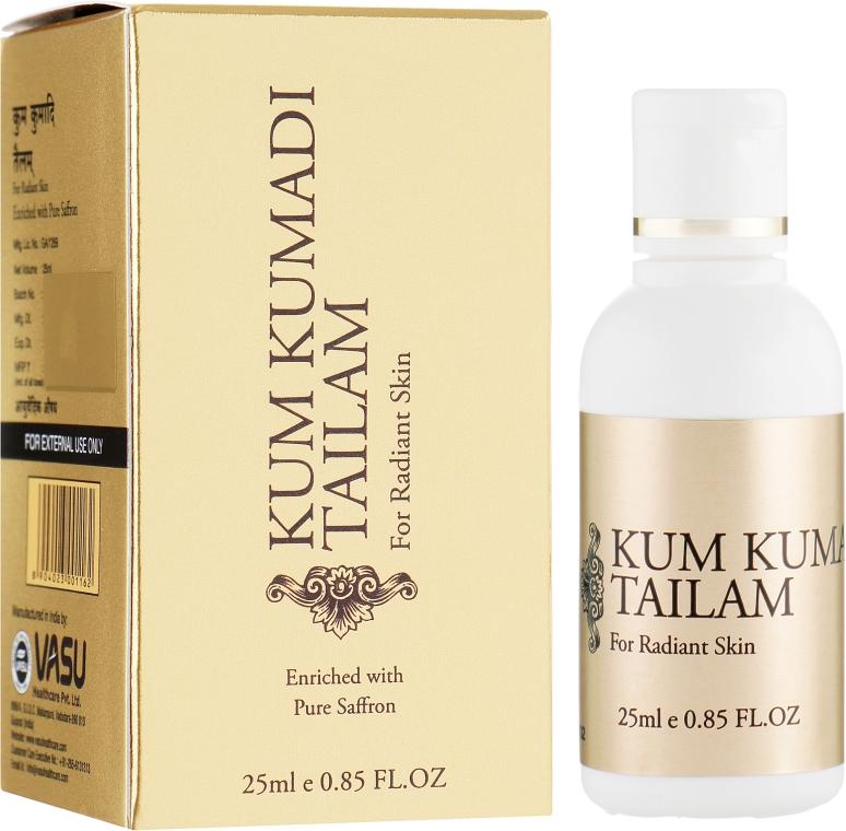 "Омолаживающее масло для лица ""Кумкумади"" - Vasu Kumkumadi Tailam Oil"