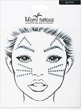 Духи, Парфюмерия, косметика Клеящиеся кристаллы для лица - Miami Tattoos Kitty