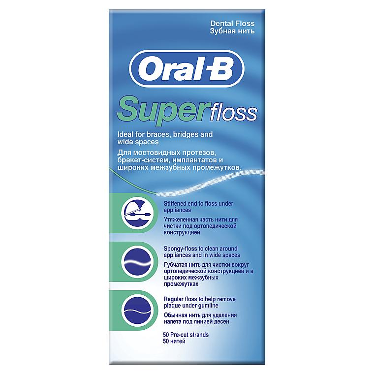 Зубная нить - Oral-B Super Floss