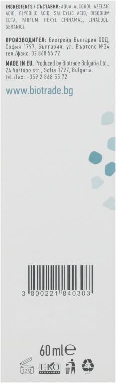 """Отшелушивающий тоник с комбинацией азелаиновой, гликоловой и салициловой кислот """"Пилинг эффект"""" - Biotrade Pure Skin Exfoliating Tonic — фото N4"""