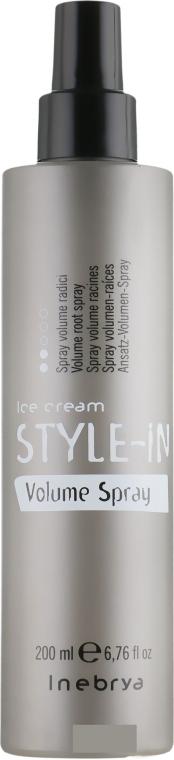 Спрей для придания объема тонким и поврежденным волосам - Inebrya Style-In Volume Root Spray