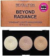 Духи, Парфюмерия, косметика Палетка хайлайтеров - Makeup Revolution Highlighter Palette Beyond Radiance