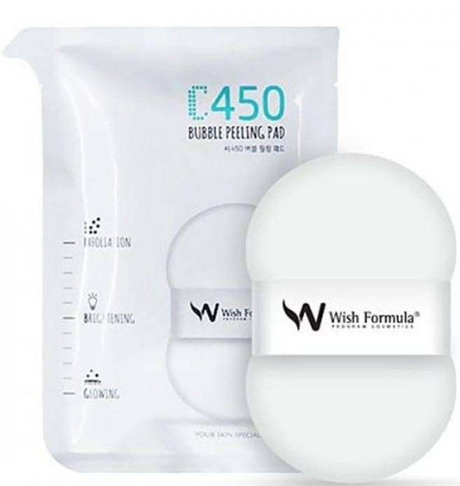 Спонж-пилинг для тела с витамином С - Wish Formula C450 Bubble Peeling Pad — фото N1