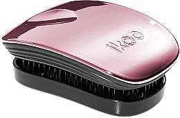 Парфумерія, косметика Гребінець для волосся - Ikoo Pocket Rose Metallic Black