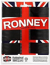 Духи, Парфюмерия, косметика Заколки-невидимки прямые 6 см, черные - Ronney Professional Hair Bobby Pins