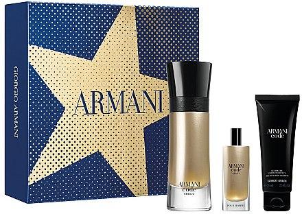 Giorgio Armani Code Absolu - Подарочный набор (edp/60ml + edp/15ml + shower/75ml)