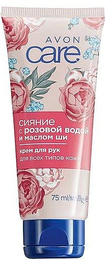 "Крем для рук ""Сияние"" - Avon Care Rose Water And Shea Butter Cream"