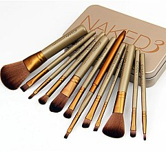 Духи, Парфюмерия, косметика Набор кистей для макияжа 12шт - Aise Line Makeup Brush Set Naked 3