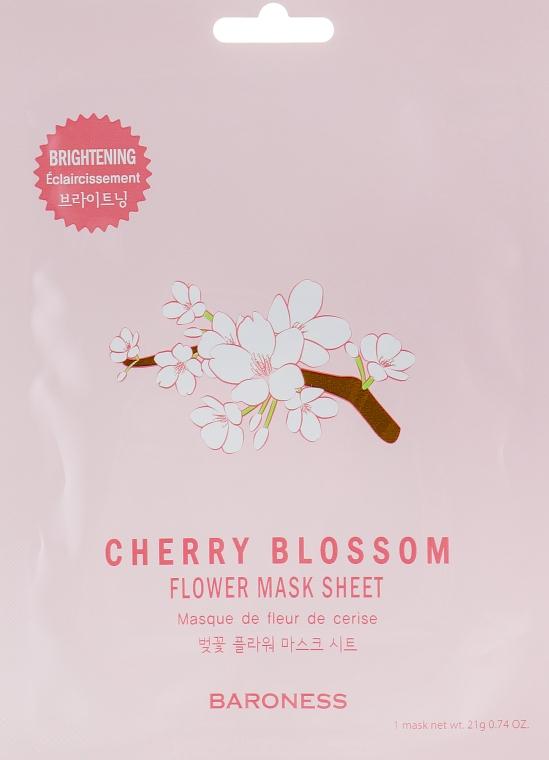 Тканевая маска - Beauadd Baroness Flower Mask Sheet Cherry Blossom Flower