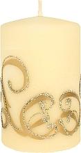 Духи, Парфюмерия, косметика Декоративная свеча, кремовая с завитушками, 7x10 см - Artman Christmas Ornament