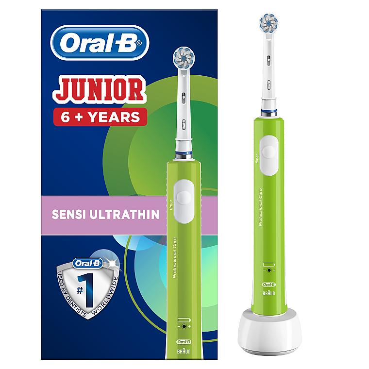 Электрическая зубная щетка детская, от 6 лет - Oral-B Braun Junior