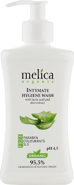 Средство для интимной гигиены с молочной кислотой и экстрактом алоэ - Melica Organic Intimate Hygiene Wash