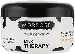 Духи, Парфюмерия, косметика Маска для волос с молочным протеином - Morfose Milk Therapy Creamy Mask