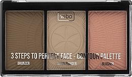Духи, Парфюмерия, косметика Палетка для контурирования - Wibo 3 Steps To Perfect Face Contour Palette New Edition