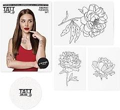 Духи, Парфюмерия, косметика Временные тату - TATTon.me Graphic Flowers Set