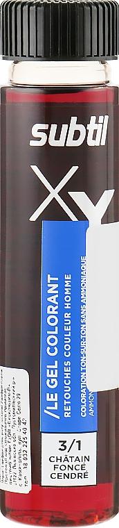 Гелевая краска для волос, 3-1 - Laboratoire Ducastel Subtil XY Men Gel Colorant
