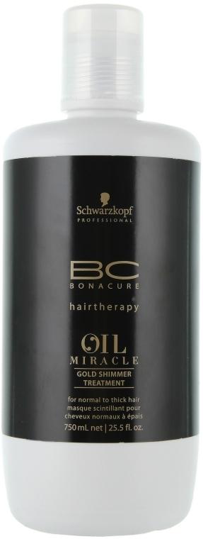 Золотая маска-блеск для волос - Schwarzkopf Professional ВС Bonacure Oil Miracle Gold Shimmer Treatment