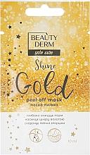 Духи, Парфюмерия, косметика Маска-пленка для лица - Beauty Derm Skin Care Shine Golden Peel-off Mask
