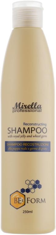 Восстанавливающий шампунь с маточным молочком и пшеничными протеинами - Mirella Professional Bee Form Reconstructing Shampoo