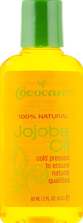 Масло жожоба для волос и тела - Cococare 100% Natural Jojoba Oil Natural Hair And Skin Conditioner