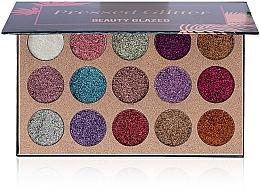 Духи, Парфюмерия, косметика Палетка глиттеров - Beauty Glazed Pressed Glitter 15 Extremely Tiny Glitter Eyeshadow Palette