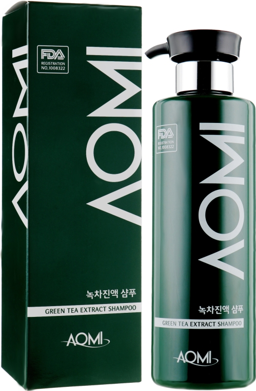 Шампунь для волос с экстрактом зеленого чая - Aomi Green Tea Scalp Sap Shampoo
