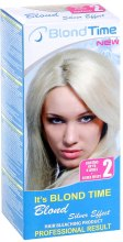 Духи, Парфюмерия, косметика Краска осветлитель для волос до 4 тонов + Серебряный эффект №2 - Blond Time Silver Effekt Hair Bleaching Product