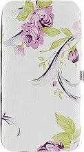 Духи, Парфюмерия, косметика Маникюрный набор, A10, белый с сиреневыми цветами - Rapira