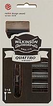 Духи, Парфюмерия, косметика Станок для мужчин с 4 картриджами - Wilkinson Sword Quattro Vintage Edition