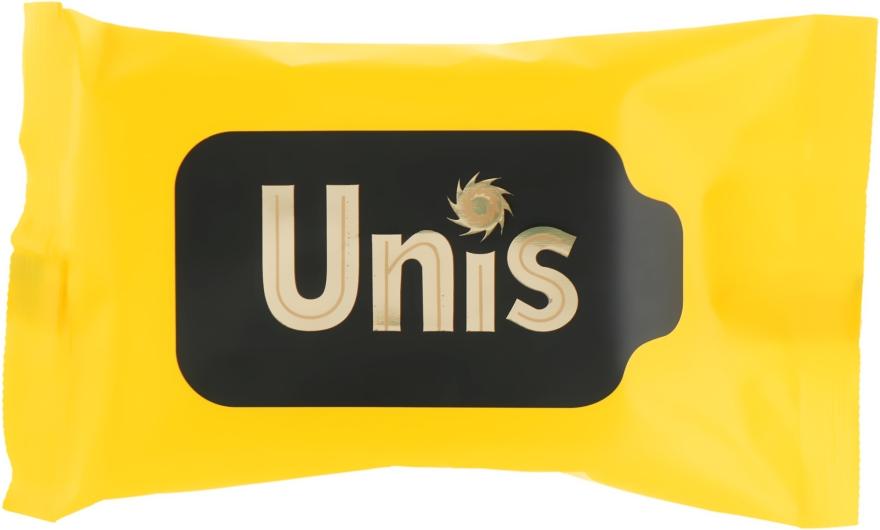 Влажные антибактериальные салфетки, 15 шт - Unis Perfume Yellow
