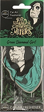 "Духи, Парфюмерия, косметика Ароматизатор для авто ""Green Diamond Girl"" - Aroma Car Dia De Los Muertos"