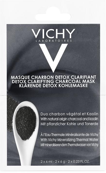 Маска-детокс с углем и каолином для глубокого очищения кожи лица - Vichy Detox Clarifying Charcoal Mask