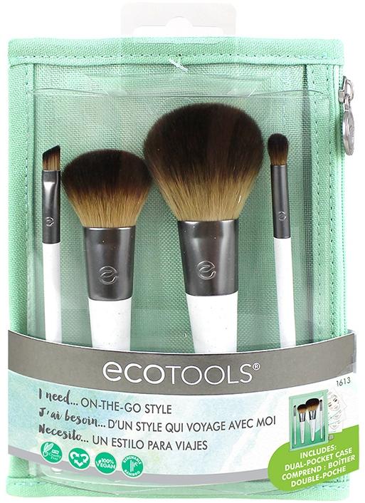Набор кистей для макияжа, 4шт. - EcoTools On-The Go Style
