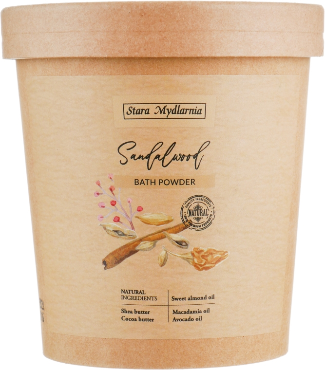 "Пудра для ванны ""Сандаловое дерево"" - Stara Mydlarnia Bodychillout Sandalwood Bath Powder"