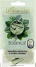 Духи, Парфюмерия, косметика Маска для смешанной, жирной кожи, с зелёной глиной - Bielenda Botanical Clays