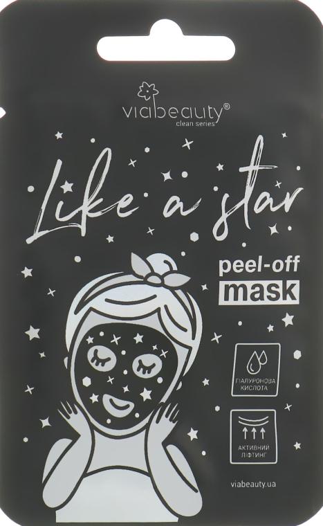 Очищающая маска-пленка с гиалуроновой кислотой - Viabeauty Like A Star Peel-off Mask