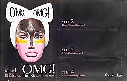Четырехкомпонентная маска для очищения лица - Double Dare OMG! 4in1 Kit Zone System Mask — фото N1