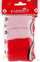Духи, Парфюмерия, косметика Набор резинок для волос, 7582, 4шт розовый + красный - Reed