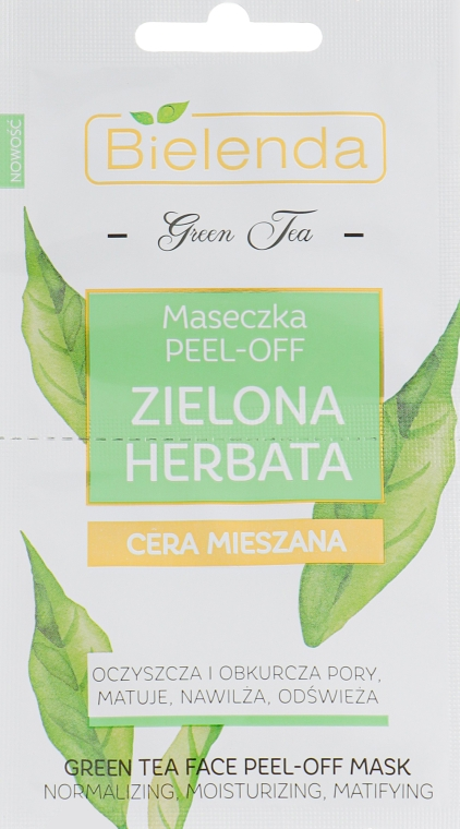 Маска для лица Peel-Off - Bielenda Green Tea Peel-Off Mask For Combination Skin