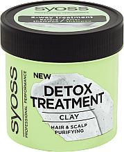 Духи, Парфюмерия, косметика Детоксицирующая маска для волос с глиной - Syoss Detox Treatment Clay