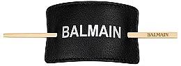 Духи, Парфюмерия, косметика Черная заколка-зажим для волос - Balmain Hair Barrette F/W 18