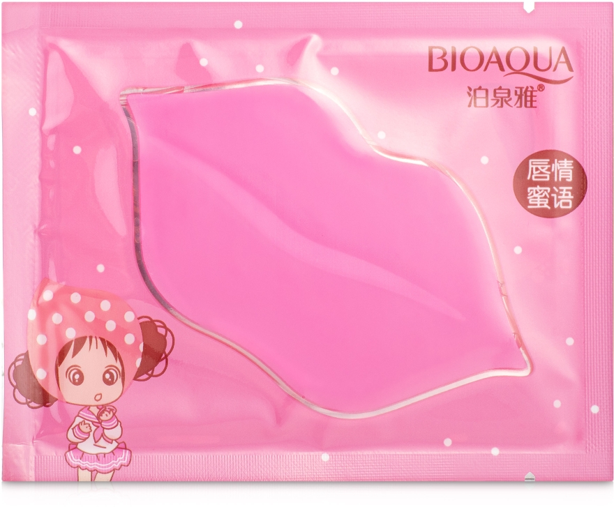 Увлажняющая гидрогелевая маска для губ с коллагеном - Bioaqua Collagen Nourish Lips Membrane