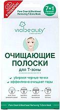 Духи, Парфюмерия, косметика Очищающие полоски для Т-зоны, 7+1шт. - Via Beauty