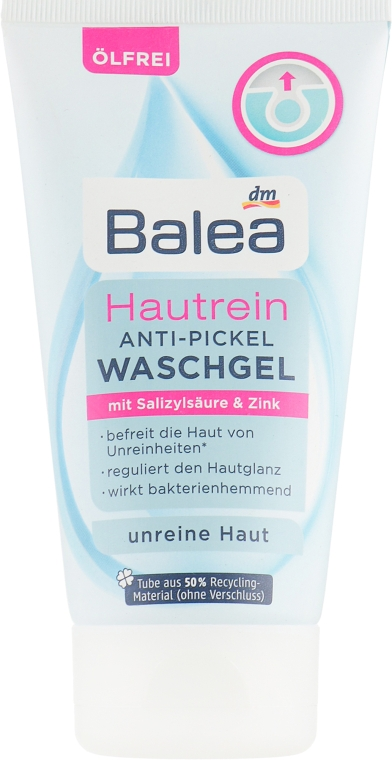 Гель для умывания против прыщей с салициловой кислотой и цинком - Balea Hautrein Anti-Pickel Waschgel