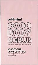 """Духи, Парфюмерия, косметика Кокосовый скраб для тела """"Кокос, розовая соль, маракуйя"""" - Cafe Mimi"""