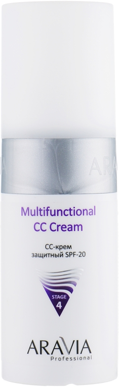 Захисний СС-крем для обличчя - Aravia Professional Multifunctional CC Cream SPF-20 — фото N1