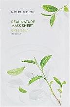 Духи, Парфюмерия, косметика Тканевая маска для лица с экстрактом зелёного чая - Nature Republic Real Nature Mask Sheet Green Tea