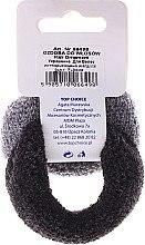 Духи, Парфюмерия, косметика Резинки для волос толстые 2 шт, черная и серая - Top Choice