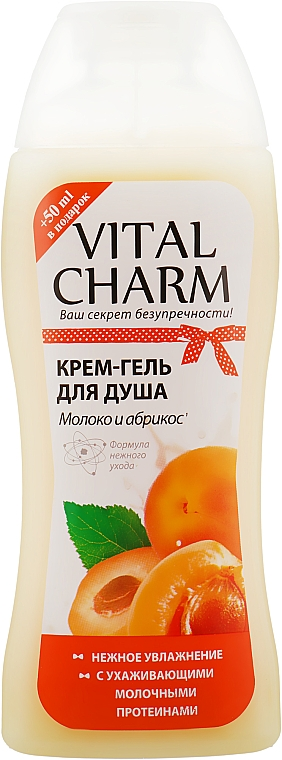 """Крем-гель для душа """"Молоко и Абрикос"""" - Vital Charm"""