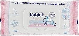 Духи, Парфюмерия, косметика Увлажняющие салфетки для новорожденных Sensitive, 60 шт - Bobini